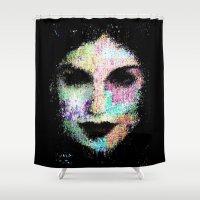 cassandra jean Shower Curtains featuring Cassandra by brett66