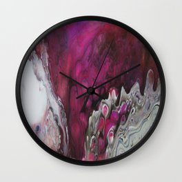 Purple Peacock Wall Clock