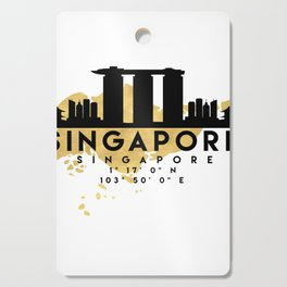 SINGAPORE SILHOUETTE SKYLINE MAP ART Cutting Board