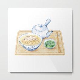 Japanese Chazuke | 茶泡饭 Metal Print