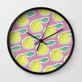 lemony Wall Clock
