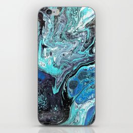 Blue Explosion iPhone Skin