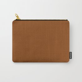 Saddle brown - solid color Carry-All Pouch