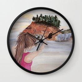 Hugs from the Oregon Coast - Hug Point, Oregon Wall Clock