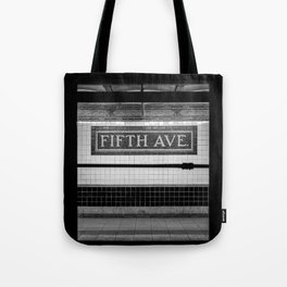 Fifth Ave Subway Tote Bag
