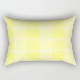 Delicate intersections of light and yellow lines on a pastel background. Rectangular Pillow