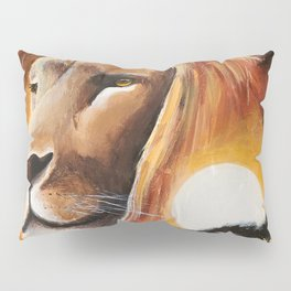 Animal - Lion - Quiet strength - by LiliFlore Pillow Sham