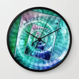Spinning Nickels Into Infinity Wall Clock
