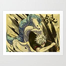 Gintoki Ink Art Print
