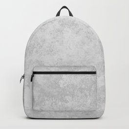 Grunge white gray marble Backpack