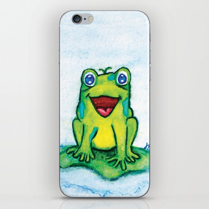 Happy Frog - Watercolor iPhone Skin