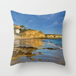 Olhos d'Agua in winter, Portugal, Throw Pillow