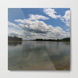 Yellowstone Lake View Metal Print