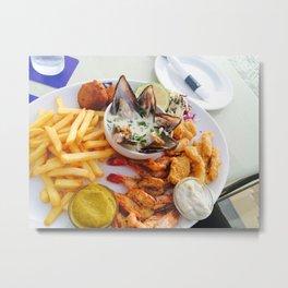 Full Platter Meal- Fish Market Metal Print