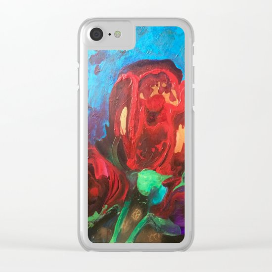 The Tulips Came Early Clear iPhone Case