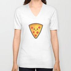 Pizza Face Unisex V-Neck