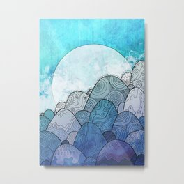 The Blue Sky Rocks Metal Print