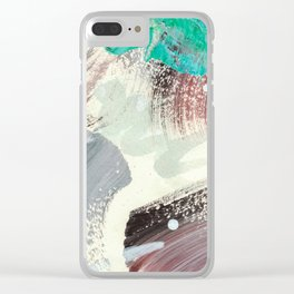 Snowy Walk in the Woods 07 Clear iPhone Case