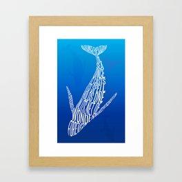Whale song Framed Art Print