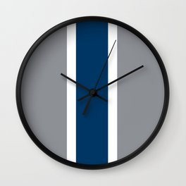 TEAM COLORS 10 ...GRAY ,NAVY Wall Clock