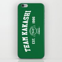 kakashi iPhone & iPod Skins featuring Team Kakashi by Tsundere in the Sheets