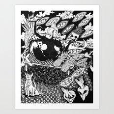 The Latex Queen Contemplates Creation Art Print