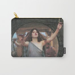 CIRCE OFFERING THE CUP TO ULYSSES - JOHN WILLIAM WATERHOUSE Carry-All Pouch