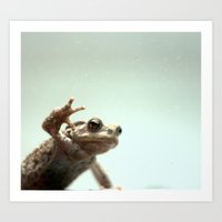 frog Art Prints featuring :: frog :: by Nico Vincentini
