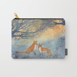 The Two Foxes Carry-All Pouch