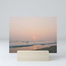 Sunset Surf on Kabalana Beach, Ahangama, Sri Lanka Mini Art Print