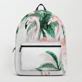 Three Flamingos Backpack