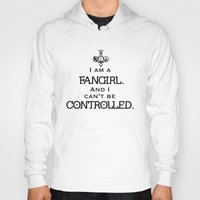 fandom Hoodies featuring Uncontrollable Fangirl with Fandom Symbol by Oh the Book Feels!