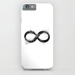 Infinity Symbol Art Black And White Timeless Gift Meditation Art Yoga Gifts Zen Gift Buddha Art iPhone Case
