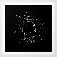 Owl Constellation Art Print