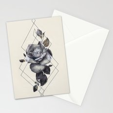 Geo Rose II Stationery Cards