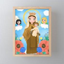 Our Lady of Mount Carmel Framed Mini Art Print
