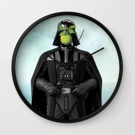 "Darth Vader in ""The Son of a Man"" by Magritte Wall Clock"