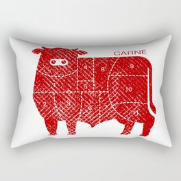 carne Rectangular Pillow