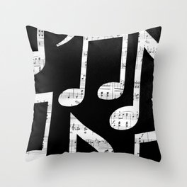 Music notes 2 Throw Pillow
