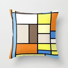 The Colors of / Mondrian Series - To toro - Miyazaki Throw Pillow