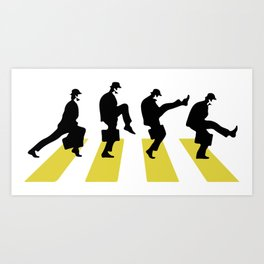 Ministry of Silly Walk Art Print