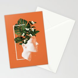 minima Lady Flowers Stationery Cards