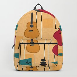 Mid Century Modern Guitar Backpack