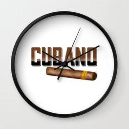 Cubano Wall Clock