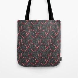 Red Prisma Tote Bag