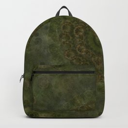 """Autumn mandala"" (Green-Grey Pattern) Backpack"