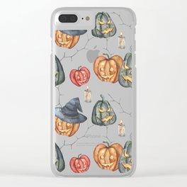 Halloween Light Clear iPhone Case