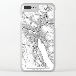 Zurich Map White Clear iPhone Case