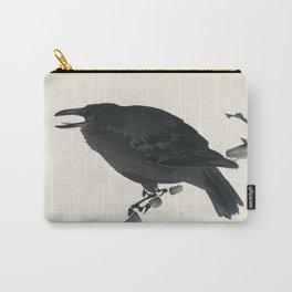 Crow by Kono Bairei (1844-1895) Carry-All Pouch