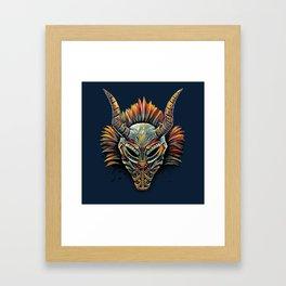 Killmonger Tribal Mask Framed Art Print
